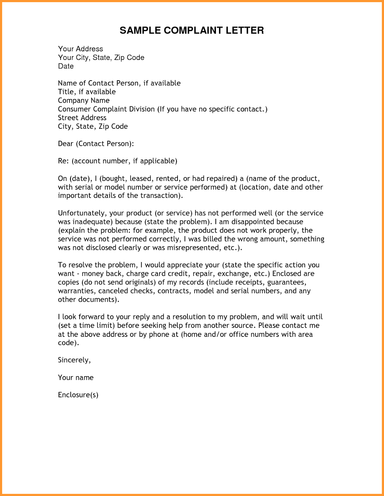 Complaint letter all information about how to write a complaint how to write a formal complaint letter altavistaventures