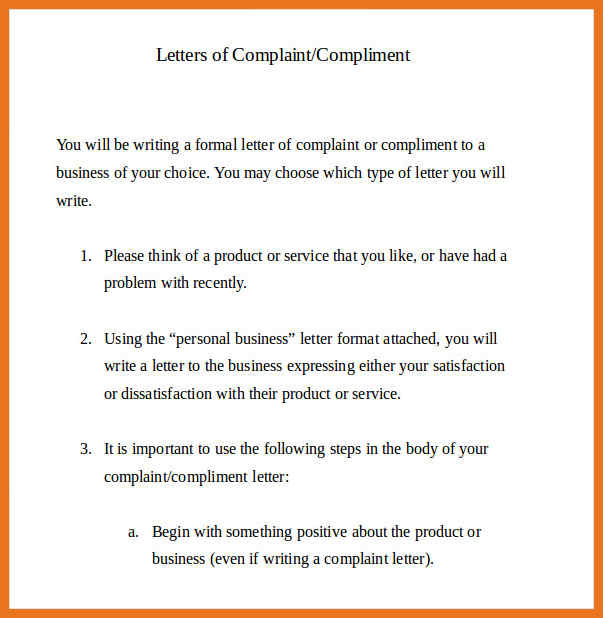 Complaint letter all information about how to write a complaint proficient complaint letters altavistaventures Image collections