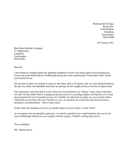 workplace bullying complaint letter sample