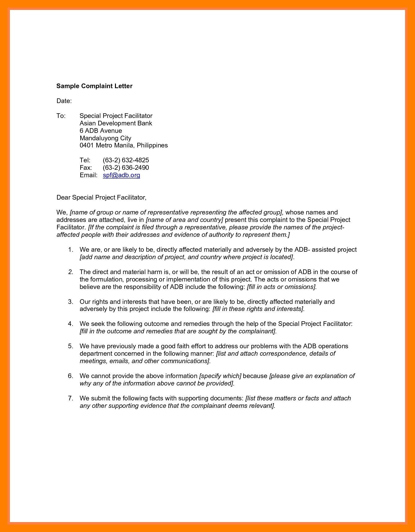 Complaint Letter for Bank for ATM Problem