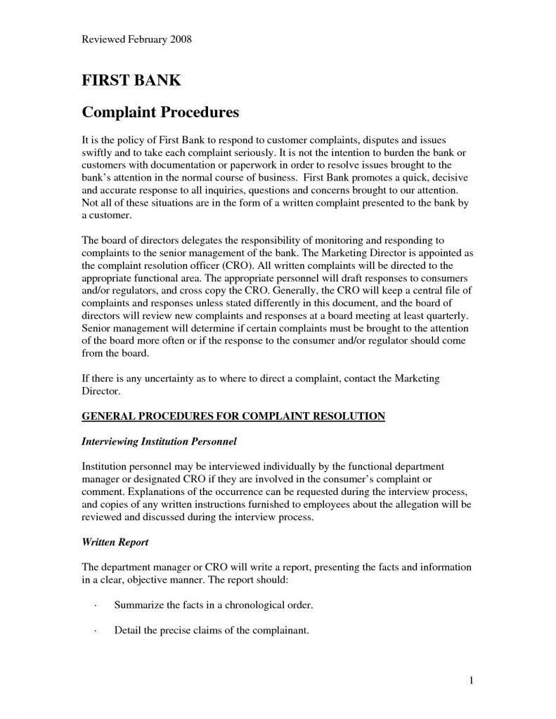 Sample Complaint letter for Defective Product