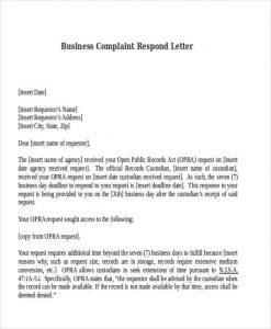 How To Respond To Complaint Letter