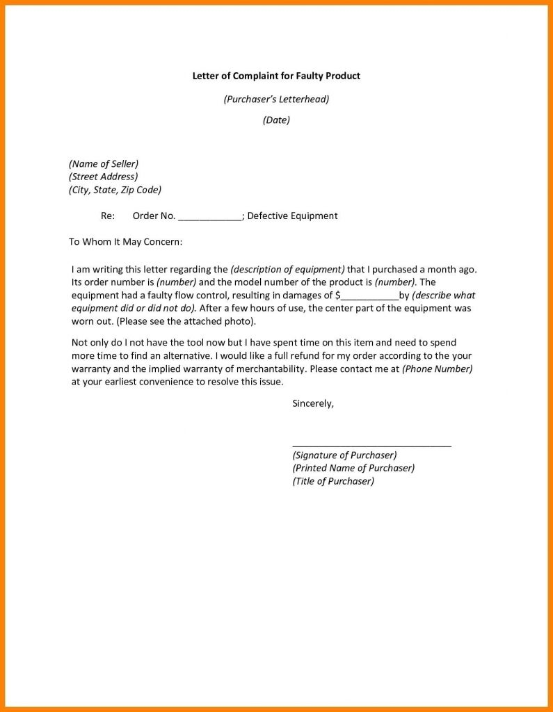 Formal Complaint Letter to Airline
