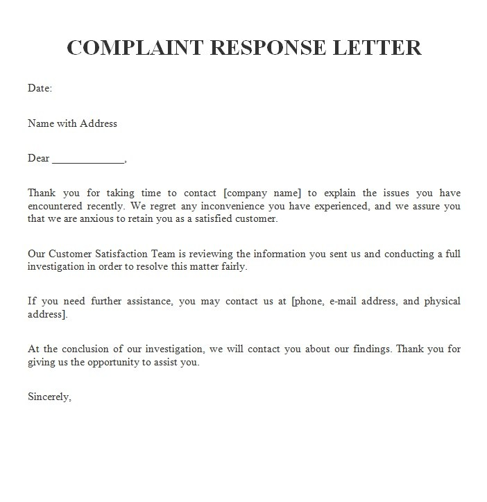 reply complaint letter bad customer service reply complaint letter example