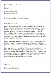 Personal Complaint Letters